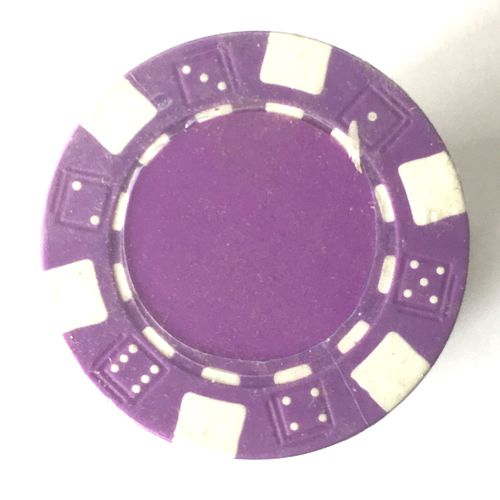 Rolls of 25 Clear Purple Dice Poker Chips