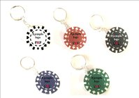 Custom poker chip keychain