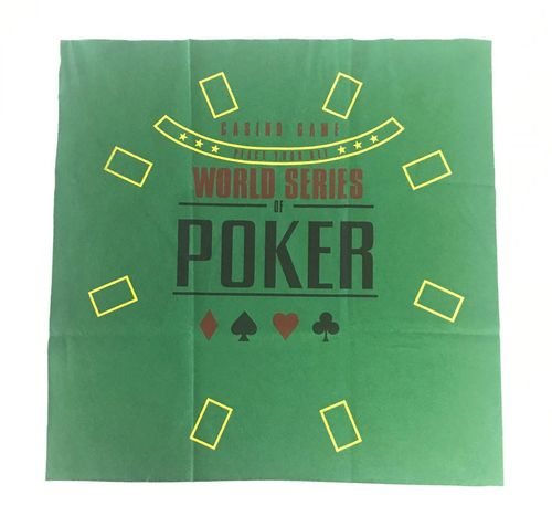 Rectangular green felt mat WSOP