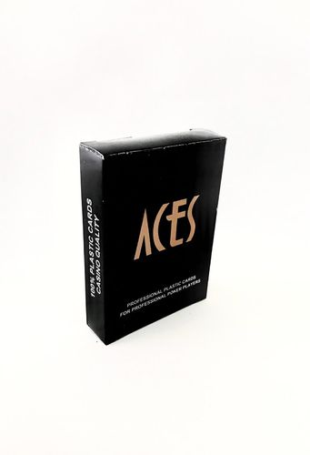 100% plastic poker cards ACES