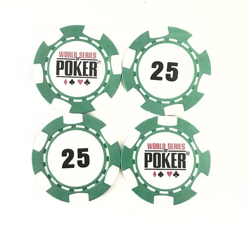 Rolls of 25 Chips WSOP 25