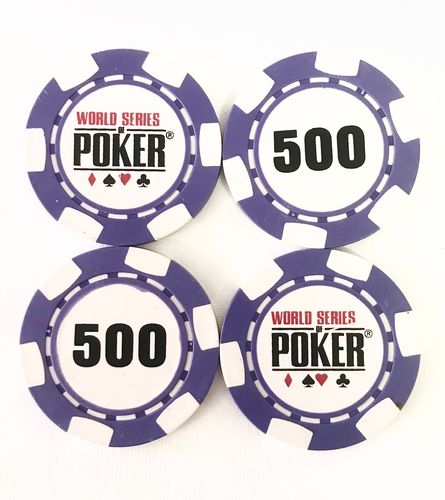Rolls of 25 Chips WSOP  500