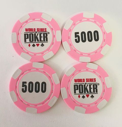 Rolls of 25 Chips WSOP  5.000