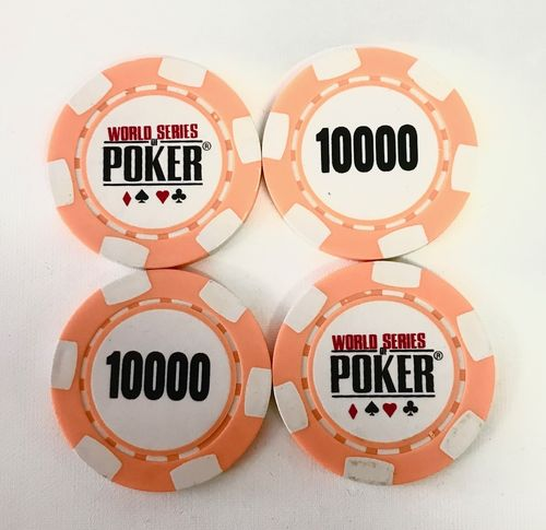 Rolls of 25 Chips WSOP 10.000