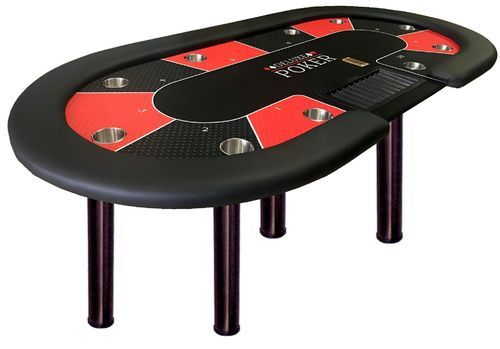 TABLE DE POKER  OVAL  10 JOUEURS