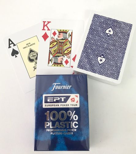 EPT 100% Plastic Poker Cards Jumbo blue